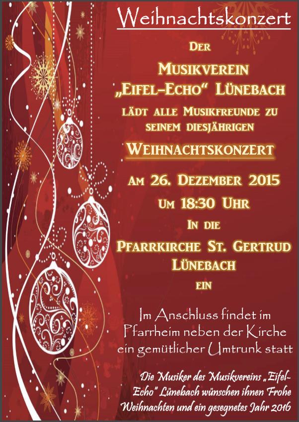 Weihnachtskonzert des Musikvereins 2015